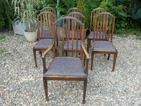 Set of 7 Arts & Crafts Dining Chairs by James Shoolbred (2 of 11)