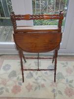 Needlework Table, Folding, Mahogany, Victorian (6 of 8)