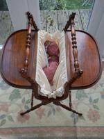 Needlework Table, Folding, Mahogany, Victorian (2 of 8)