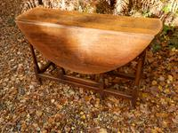 Drop Leaf Dining Table, Solid Oak, 18th Century (4 of 7)