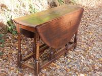 Drop Leaf Dining Table, Solid Oak, 18th Century (5 of 7)