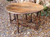 Drop Leaf Dining Table, Solid Oak, 18th Century (2 of 7)