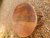 Drop Leaf Dining Table, Solid Oak, 18th Century (7 of 7)