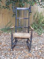 Bobbin Turned, Arts & Crafts Rocking Chair (3 of 8)