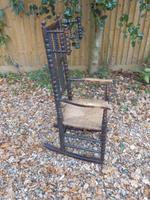 Bobbin Turned, Arts & Crafts Rocking Chair (6 of 8)