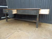 Preparation Table, Solid Oak. Victorian (11 of 11)