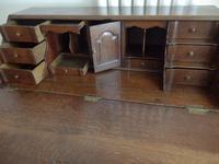 Bureau, Desk, Dutch, Solid Oak (9 of 14)