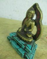 Tibetan Buddha Statue Red Coral Turquoise Shrine (2 of 3)
