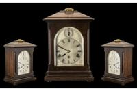 Antique Edwardian Kienzle Clock Company Large & Impressive German 8 Day Chiming Mahogany Cased Bracket Clock Art Nouveau Art Deco