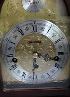 Rare Franz Hermle 8 Day Westminster Chime by Wm. Widdop Mahogany Mantel Clock (2 of 4)