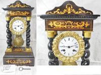 Rare Napoleon III Twisted Column Portico Clock (2 of 12)