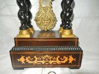 Rare Napoleon III Twisted Column Portico Clock (3 of 12)