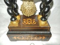 Rare Napoleon III Twisted Column Portico Clock (4 of 12)