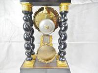 Rare Napoleon III Twisted Column Portico Clock (9 of 12)