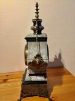 Rare Antique French Vintage Marble Granite Bronze Ornate Slate Mantel Clock (6 of 12)