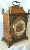 Rare Franz Hermle Mantel Clock 8 Day Bim Bams 3 Hammers with Silent Mode (3 of 4)
