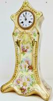 Rare Antique French 8 Day Hand Painted Vintage Sevres Porcelain Mantel Clock (3 of 11)