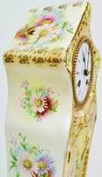 Rare Antique French 8 Day Hand Painted Vintage Sevres Porcelain Mantel Clock (6 of 11)