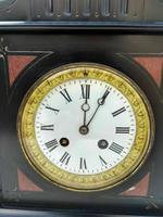 Rare Antique Samuel Marti Medaille De Bronze 1860 French Black Slate Mantel Clock (7 of 7)