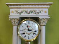 Rare Porcelain Portico Mantel Clock Franklin Mint Franz Hermle Limited Edition (2 of 7)