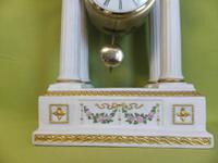 Rare Porcelain Portico Mantel Clock Franklin Mint Franz Hermle Limited Edition (3 of 7)