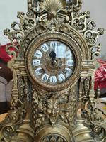 Franz Hermle Vintage Gilt Imperial Ormolu Brass Mantel Mantle Clock (2 of 7)