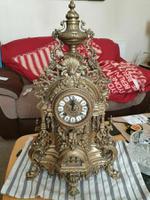 Franz Hermle Vintage Gilt Imperial Ormolu Brass Mantel Mantle Clock (3 of 7)