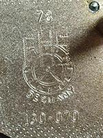 Franz Hermle Vintage Gilt Imperial Ormolu Brass Mantel Mantle Clock (6 of 7)
