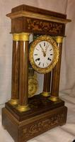1820s RAre Antique Pendulum Portico Charles X Ormolu Mantel Clock (2 of 3)