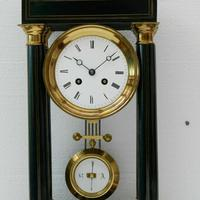 Rare Antique 1860 French Ebonised Ormolu Pendule J. Falconnier Portico Clock (2 of 11)