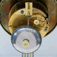 Rare Antique 1860 French Ebonised Ormolu Pendule J. Falconnier Portico Clock (11 of 11)