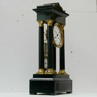 Rare Antique 1860 French Ebonised Ormolu Pendule J. Falconnier Portico Clock (3 of 11)