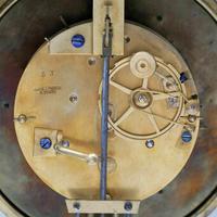 Rare Antique 1860 French Ebonised Ormolu Pendule J. Falconnier Portico Clock (7 of 11)