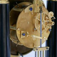Rare Antique 1860 French Ebonised Ormolu Pendule J. Falconnier Portico Clock (9 of 11)