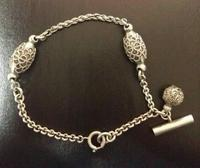 1901 Rare Antique Edwardian Silver Unusual Albertina Watch Chain Bracelet (6 of 7)