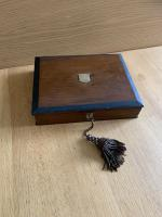 Antique Victorian Rosewood Brass Bound Writing Slope Box