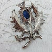 Scottish Silver Agate Brooch Thistle (2 of 2)