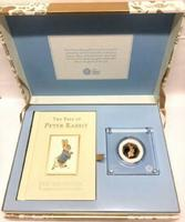 Beatrix Potter the Tale of Peter RAbbit 50P Gold Proof Fifty Pence Coin (2 of 2)
