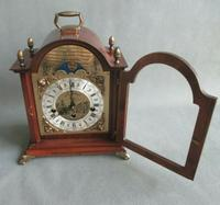 Rare St.James Westminster Franz Hermle 8 Day Mantel Bracket Clock Moon Phase (2 of 10)