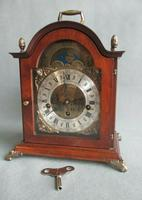 Rare St.James Westminster Franz Hermle 8 Day Mantel Bracket Clock Moon Phase
