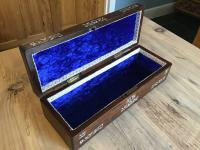 Victorian English Rosewood & Fab Mother of Pearl Inlay Box ,Trinket Jewel, Glove Box (4 of 9)