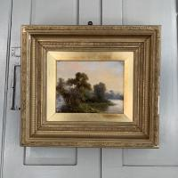 Sold - Antique Victorian River Landscape Oil Painting Signed As (2 of 10)