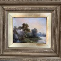 Sold - Antique Victorian River Landscape Oil Painting Signed As (3 of 10)