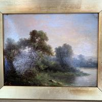 Sold - Antique Victorian River Landscape Oil Painting Signed As (4 of 10)