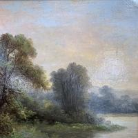 Sold - Antique Victorian River Landscape Oil Painting Signed As (5 of 10)