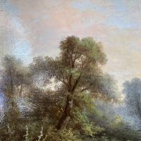Sold - Antique Victorian River Landscape Oil Painting Signed As (6 of 10)