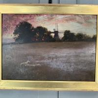 Antique Impressionist Landscape Oil Painting Signed David Murray Dated 1889 (3 of 10)