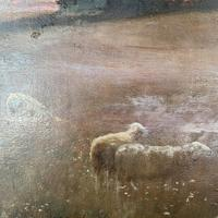 Antique Impressionist Landscape Oil Painting Signed David Murray Dated 1889 (5 of 10)