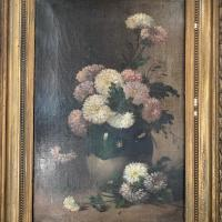 Antique Still Life Oil Painting of Vase of Flowers (4 of 10)