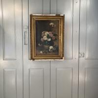 Antique Still Life Oil Painting of Vase of Flowers (10 of 10)